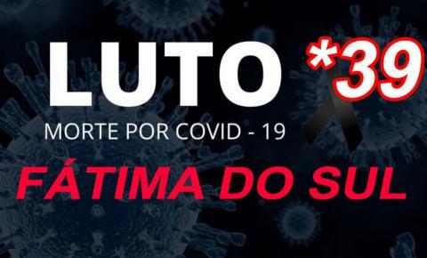 Mulher de 65 anos é a 39ª vítima fatal do novo coronavírus em Fátima do Sul