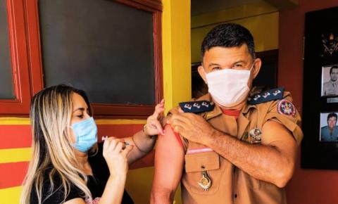 Em Fátima do Sul, Bombeiros Militares recebem segunda dose da vacina contra Covid-19