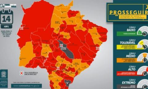 Campo Grande volta para bandeira cinza e tem 'risco extremo' para covid; Fátima do Sul segue na bandeira vermelha