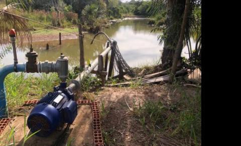 Comerciante é autuado por captar grande quantidade de água para irrigação agrícola de forma irregular