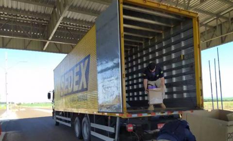 Em 12 dias, polícia apreende 3º caminhão dos Correios levando contrabando na BR-463 em Ponta Porã