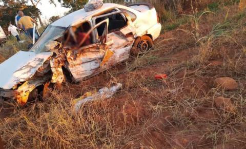 Motorista morre e 4 ficam feridos em acidente entre carro e caminhonete na MS-080