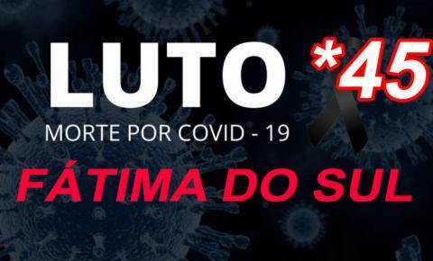 Com o registro do 45º óbito na madrugada desta segunda, Fátima do Sul registra 17 novos casos da Covid e tem 5 em UTI