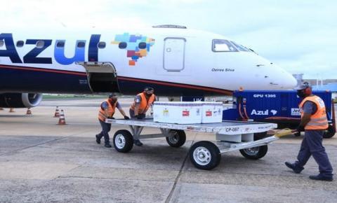 Mato Grosso do Sul recebe lote com 38,8 mil doses de vacina contra covid essa semana