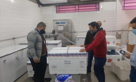 Mato Grosso do Sul recebe 40.460 doses de vacina contra a Covid-19 nesta segunda-feira
