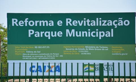 Prefeitura aguarda empresa concluir obras de reforma e revitalização para reabrir Aqua Park de Fátima do Sul