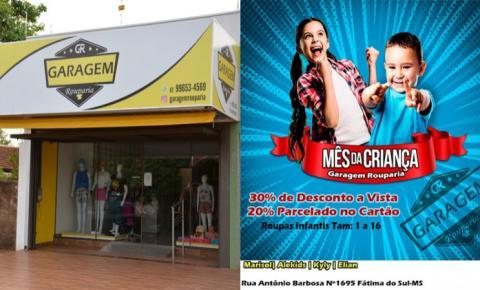Roupa infantil em promoção: aproveite para ficar na moda na Garagem Rouparia em Fátima do Sul