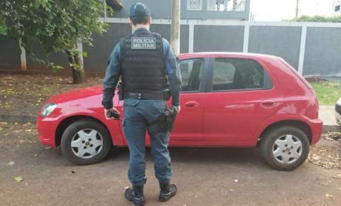 Moradora em Fátima do Sul tem veículo recuperado logo após ser furtado em espaço de eventos