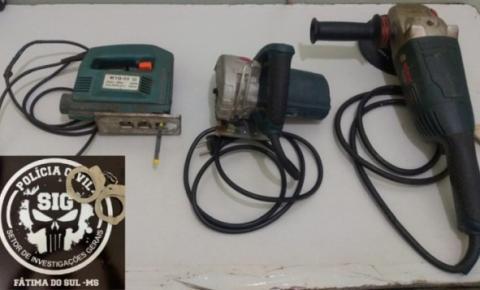 Polícia prende autor de furto e identifica receptadores em Fátima do Sul