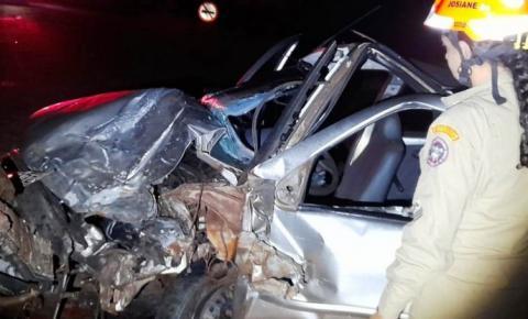 Colisão de frontal entre veículos na MS-141 deixa 4 feridos e uma vítima fatal entre Ivinhema e Naviraí
