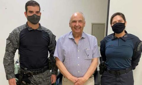 Em busca de melhorias, Londres Machado recebe diretor da ACS e comandante do 14º BPM de Fátima do Sul