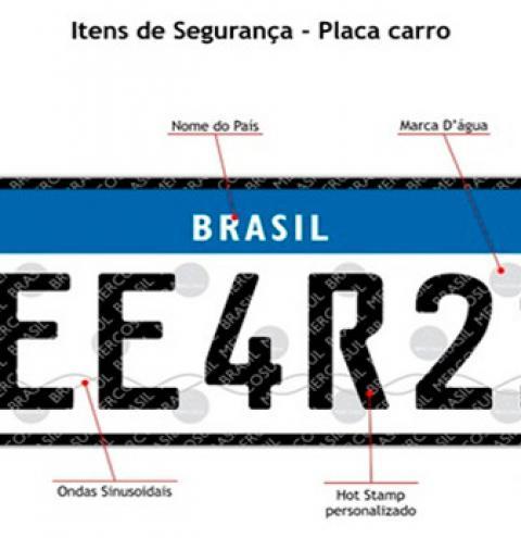 Placas do Mercosul começam a valer em 1º de setembro no Brasil