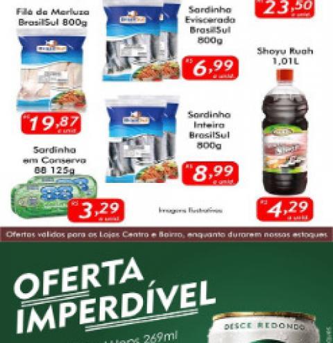 Hoje tem Skol Hops por R$ 0,99. Confira outras ofertas da Sexta Peixe no Mercado Julifran de Fátima do Sul