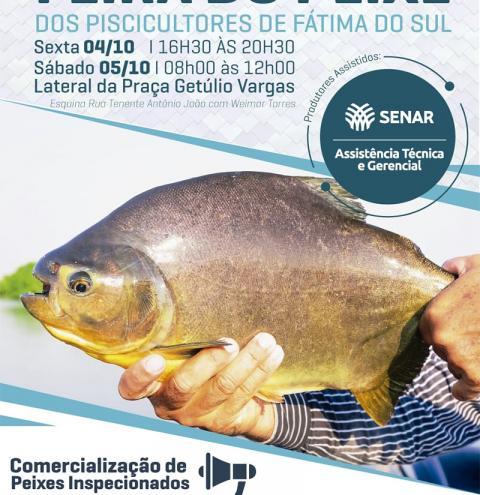 Começa nesta sexta a 1ª Feira do Peixe de Fátima do Sul